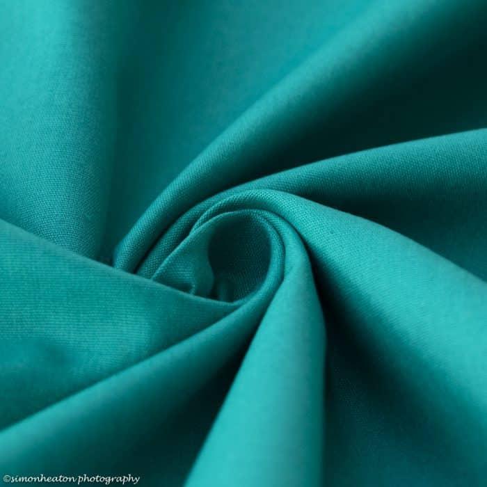 Organic Cotton Poplin Dress Fabric - Emerald