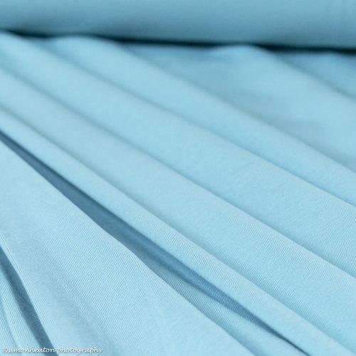 Organic Cotton Jersey Dress Fabric - Turquoise
