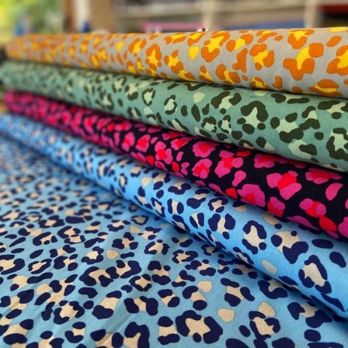 Animal Print Viscose Dress Fabric – Green