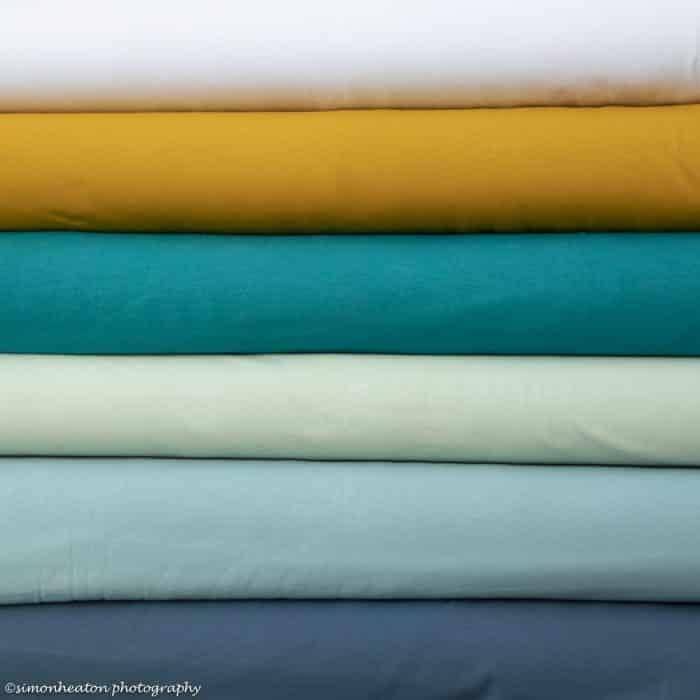 Organic Cotton Jersey Dress Fabric - White