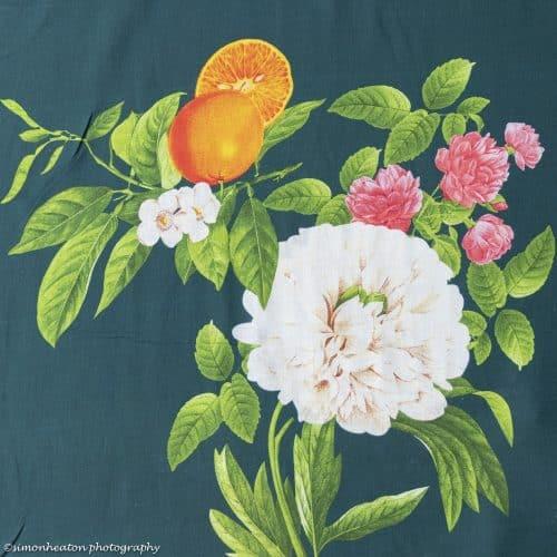 Linen Chambray Dress Fabric - Orange Blossom