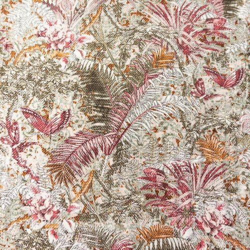 Viscose Dress Fabric - Vintage Tropical Foliage