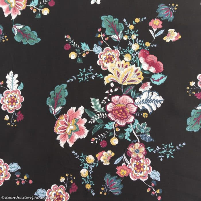 Viscose Dress Fabric - Vintage Bouquet