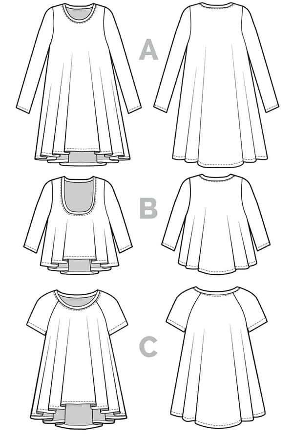 Closet Case Files – Ebony T-Shirt & Dress Sewing Pattern