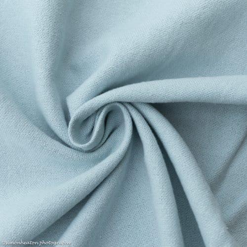 Linen Cotton Dress Fabric - Pale Blue
