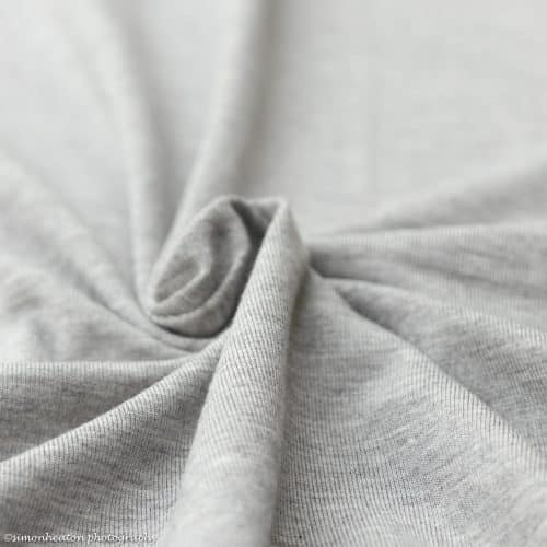 Light Grey Melange Bamboo Jersey Dress Fabric