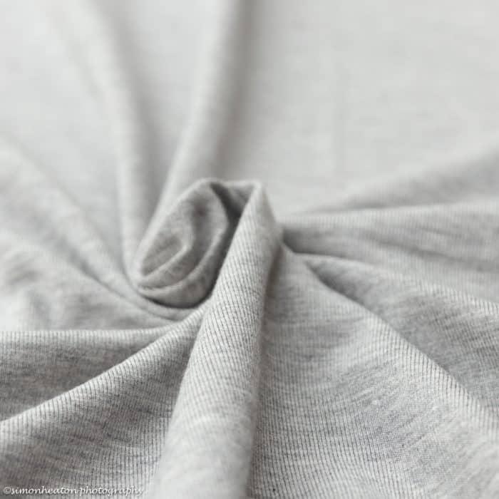 Light Grey Melange Bamboo Jersey Dress Fabric