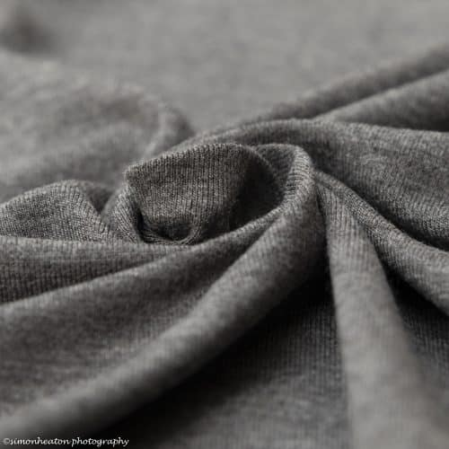 Grey Melange Bamboo Jersey Dress Fabric