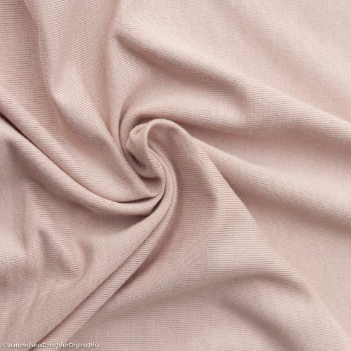 Blush Bamboo Jersey Dress Fabric