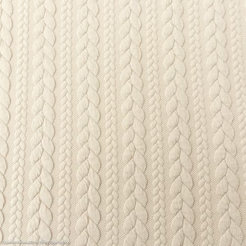 Cable Knit Jacquard Dress Fabric - Light Beige