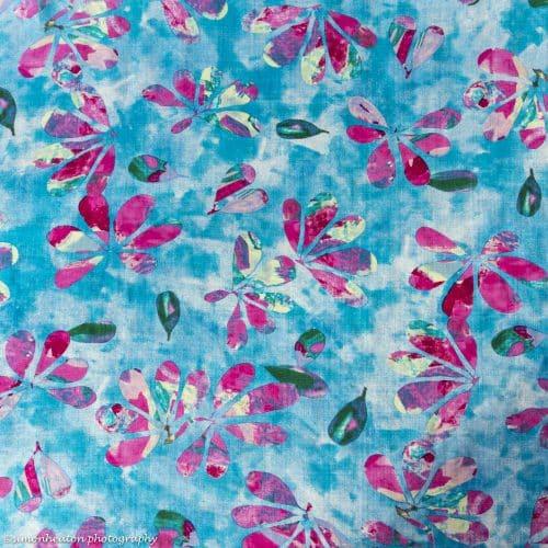 Cotton Viscose Dress Fabric - Bali Blue