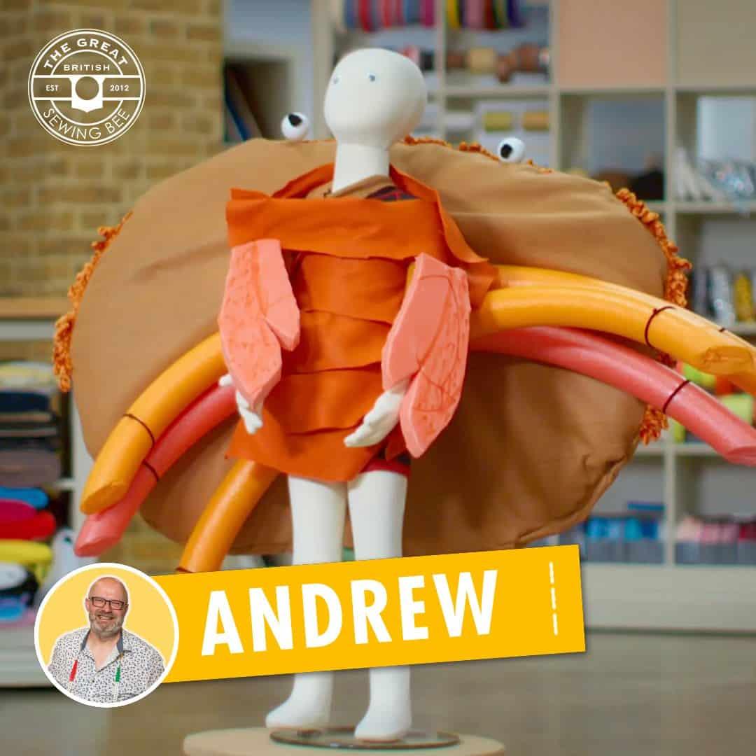Andrew's winning crab costume