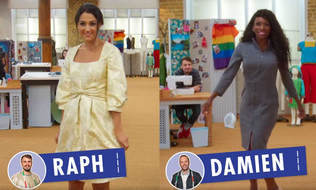 Festive winter dresses from Raph and Damien