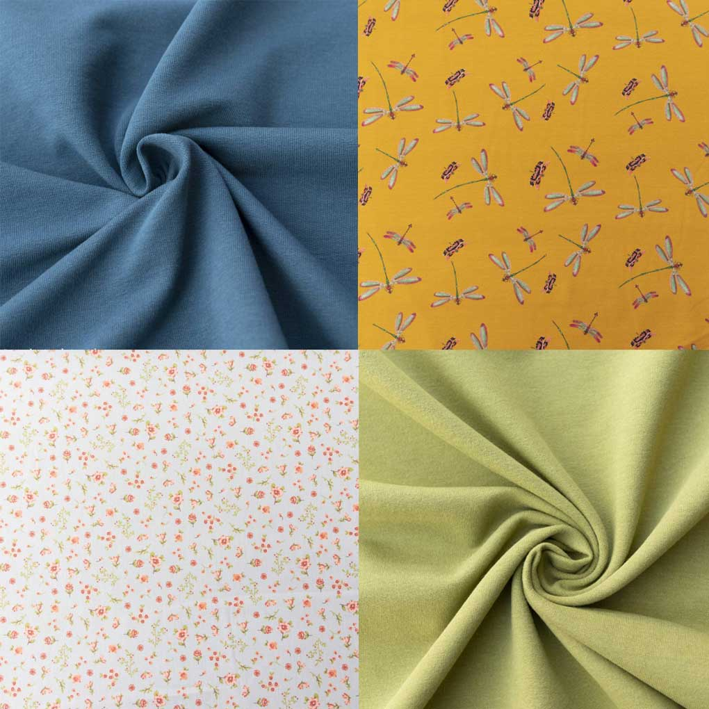 A selection of OEKOTEX 100 certified fabric