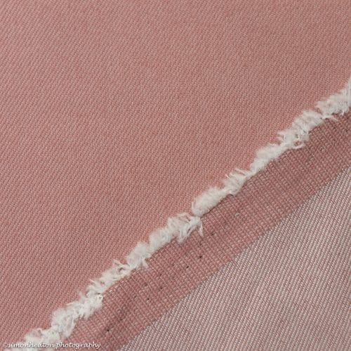 Dusty Rose Stretch Denim Fabric
