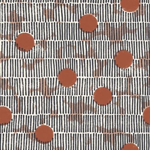 Mirage Chestnut Cotton Dress Fabric by Atelier Brunette