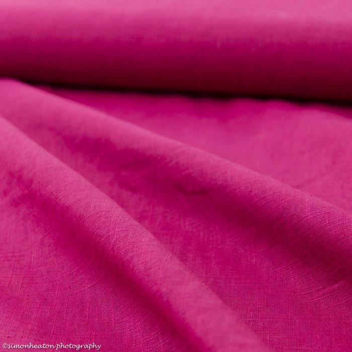 Bio Linen Dress Fabric - Fuchsia