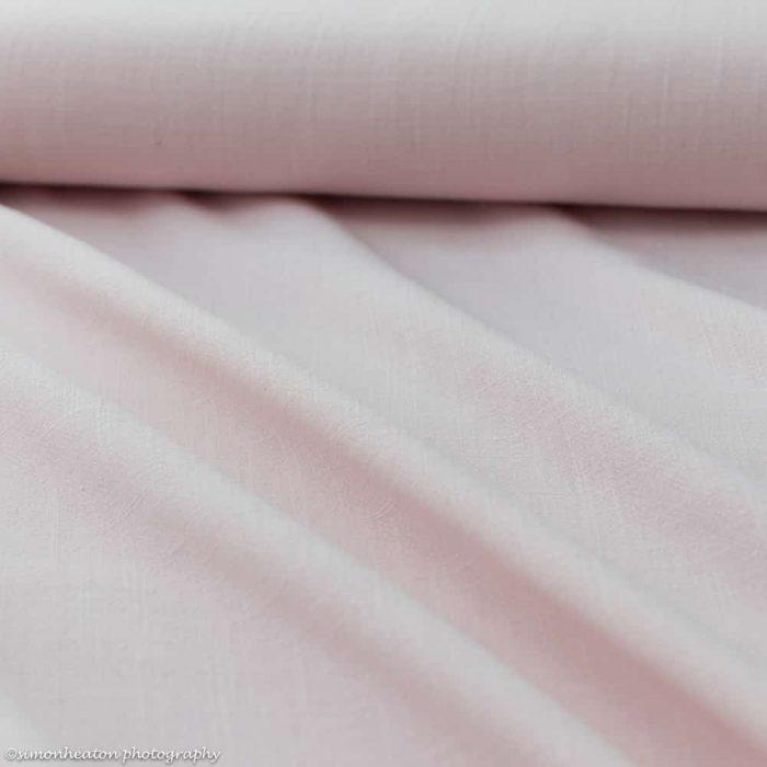 Viscose Linen Dress Fabric - Blush