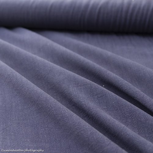 Viscose Linen Dress Fabric - French Navy