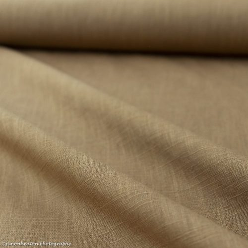 100% Bio Linen Fabric - Tan