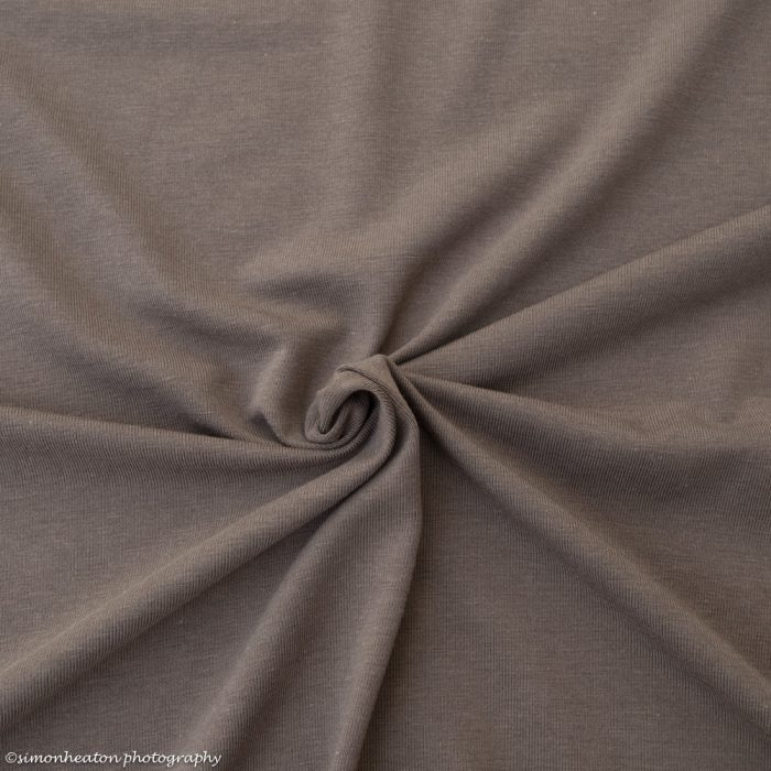 Taupe Bamboo Jersey Dress Fabric