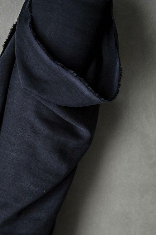 Tencel Linen Dress Fabric - Voyage Navy
