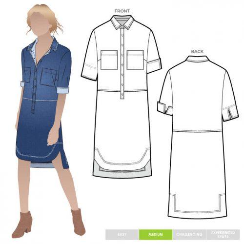 murphy woven dress pattern style arc