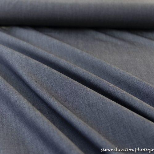 Plain Cotton Chambray Fabric- Dark Blue